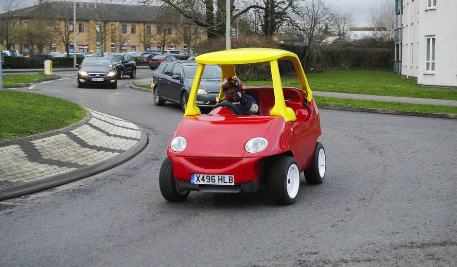 Adult-sized gas-powered Little Tikes Cozy Coupe for sale