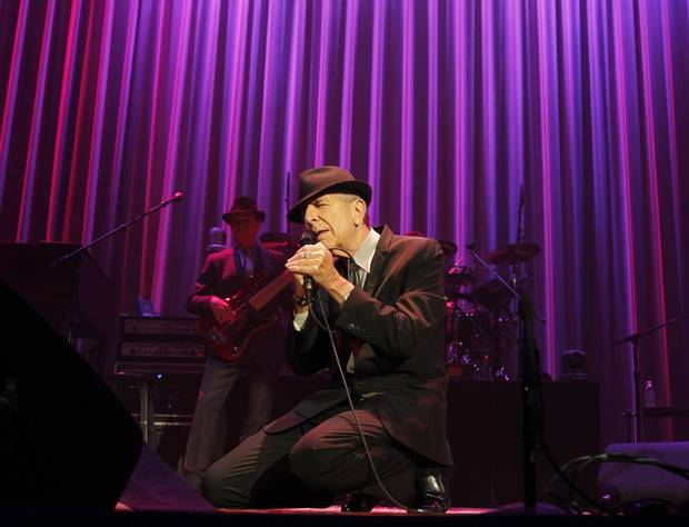 Leonard Cohen performs at the Air Canada Centre in Toronto on Dec. 4, 2012.