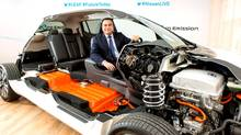 Nissan President and CEO Carlos Ghosn spoke about the new Nissan LEAF and his vision of zero-emissions mobility. (Nissan)