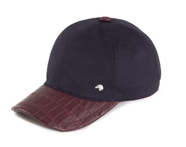 A baseball cap with a crocodile visor.
