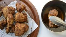Fried chicken is photographed Jan. 10, 2013, in Toronto for Lucy Waverman food column. (Fred Lum/The Globe and Mail)
