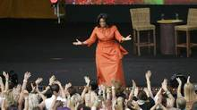 "Talk show host Oprah Winfrey is greeted by fans during the filming of ""Oprah's Ultimate Australian Adventure"" at the Sydney Opera House in Sydney, Australia on Dec. 14, 2010. If the power of the Internet could land Betty White on Saturday Night Live, why can't it get Oprah Winfrey to Canada?A Toronto woman is hoping a groundswell of online support will convince the Chicago-based megastar to bring her show to Canada during its final season on the air. (AP Photo/Jeremy Piper) A key vocal skill to cultivate is resonance, to develop a voice as memorable as that of broadcaster Oprah Winfrey, says author Cara Hale Alter. (Jeremy Piper/Associated Press)"
