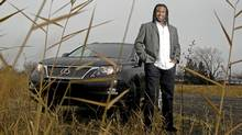 Georges Laraque traded in his Escalade for a Lexus hybrid SUV. (Christinne Muschi/Christinne Muschi for The Globe and Mail)