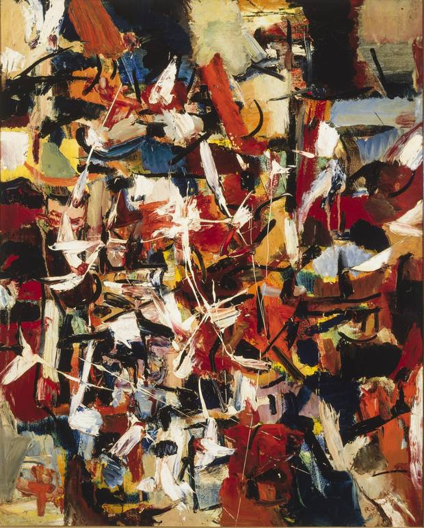 The City, 1949 by Jean-Paul Riopelle. Oil on canvas, 100 x 81 cm.