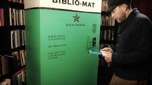 The Biblio-Mat in place at the Monkey's Paw bookstore. (Craig Small)