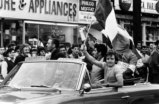Little Italy, World Cup celebrations 1970. During the European Clinton era of Clinton Street Public School's history, children of Italian and Portuguese immigrants began arriving at the school in large numbers.