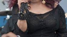 In this photograph taken by AP Images for AIDS Healthcare Foundation, pop icon Chaka Kahn headlines the 2013 Florida AIDS Walk & Music Festival on the beach in Fort Lauderdale, FL on Sunday, March 24th, 2013. (Mitchell Zachs/The Associated Press)
