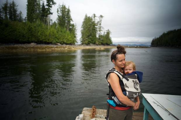 Jess Housty is a vocal critic of resource development in B.C. that would hurt the Heiltsuk way of life. Her son's name, Noen, is a shortening of 'No Enbridge,' a reference to the oil giant behind the Northern Gateway pipeline.