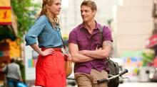 """Greta Gerwig and Joel Kinnaman in a scene from """"Lola Versus."""" (Myles Aronowitz/AP)"""