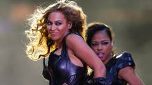 Beyonce performs during the half-time show of the NFL Super Bowl XLVII football game in New Orleans, Louisiana, February 3, 2013. (JEFF HAYNES/REUTERS)