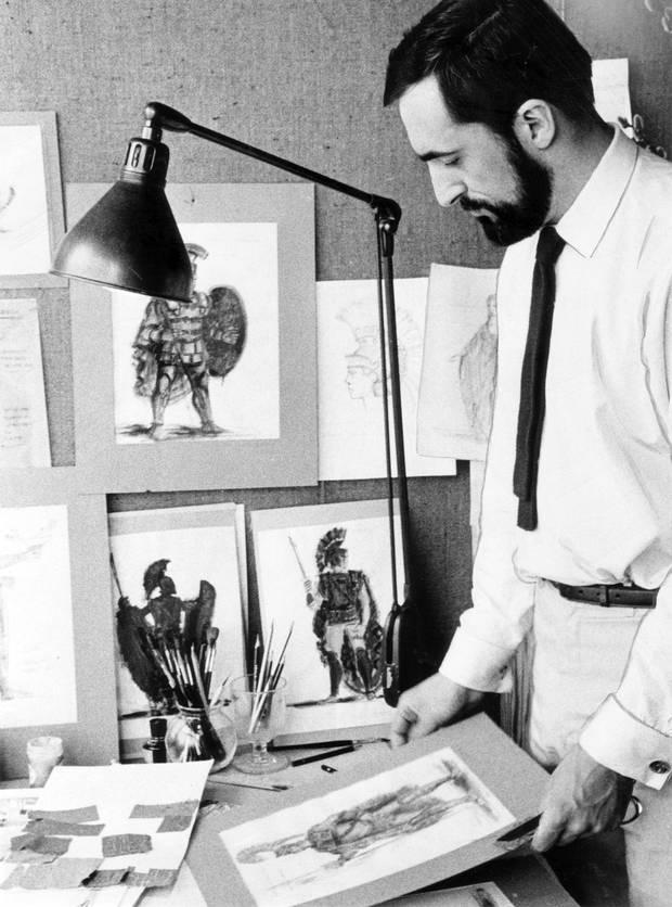 Desmond Heeley, designer of costumes for The Stratford Festival, June 1963.