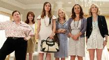 Melissa McCarthy, Ellie Kemper, Rose Byrne, Wendi McLendon-Covey, Maya Rudolph and Kristen Wiig are shown in a scene from Bridesmaids. (Suzanne Hanover/Suzanne Hanover)