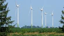 A wind farm in southwestern Ontario. (Randall Moore/The Globe and Mail)