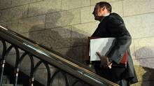 Defence Minister Peter MacKay leaves the foyer of the House of Commons after Question Period on Oct. 24, 2011. (Sean Kilpatrick/THE CANADIAN PRESS)