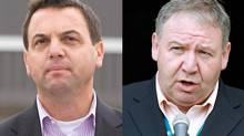 Ontario PC Leader Tim Hudak and Nova Scotia's NDP Premier, Darrell Dexter. (The Canadian Press and Reuters)
