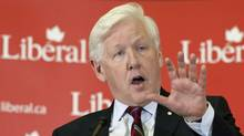 Interim Leader Bob Rae delivers a speech to the Liberal caucus in Ottawa on April 4, 2012. (Adrian Wyld/Adrian Wyld/The Canadian Press)