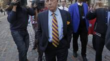 UK Independence Party leader Nigel Farage is calling for the suspension politician Godfrey Bloom. (LUKE MACGREGOR/REUTERS)