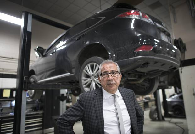 Shahin Alizadeh, president of Downtown Automotive Group in Toronto, is scrambling to find enough mechanics for his car dealerships. Pay for support staff has jumped roughly 25 per cent in the past couple of years.