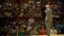 Harvard University offers the online course Justice, taught by Michael Sandel. (Justin Ide/Harvard University News Office)