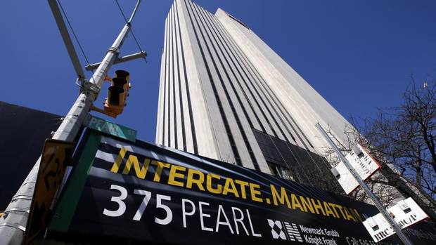 An exterior view of Intergate.Manhattan, a data centre owned and developed by Sabey Data Center Properties, in lower Manhattan. (MIKE SEGAR/REUTERS)