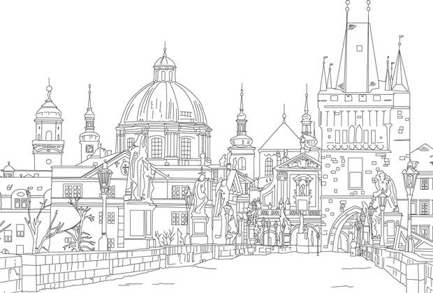 The Charles Bridge In Prague Ranks Number 34 Lonely Planets Ultimate Colouring Book