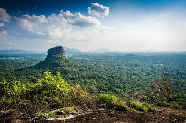 Sigiriya is an ancient palace located in the central Matale District near the town of Dambulla in the Central Province, Sri Lanka.