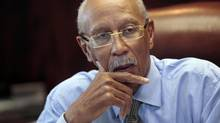 City of Detroit Mayor Dave Bing talks about the future of the city during an interview in his office in Detroit, Michigan February 5, 2013. A takeover of Detroit's shaky finances by the state of Michigan can be avoided by showing that the city is willing and able to fundamentally change how it works, Bing said on Tuesday. (Rebecca Cook/Reuters)