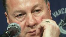 Vancouver Canucks' general manager Mike Gillis is shown in Vancouver, B.C., in this May 14, 2009 photo. Gillis says the core group of his team has shown it can excel during the NHL regular season.Gillis says what the Canucks need now is some veteran experience for the playoffs. THE CANADIAN PRESS/Darryl Dyck (DARRYL DYCK)