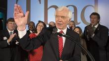 Republican U.S. Senator Thad Cochran addresses supporters during an election night celebration after defeating Tea Party challenger Chris McDaniel in a run-off election in Jackson, Mississippi June 24, 2014. (LEE CELANO/REUTERS)