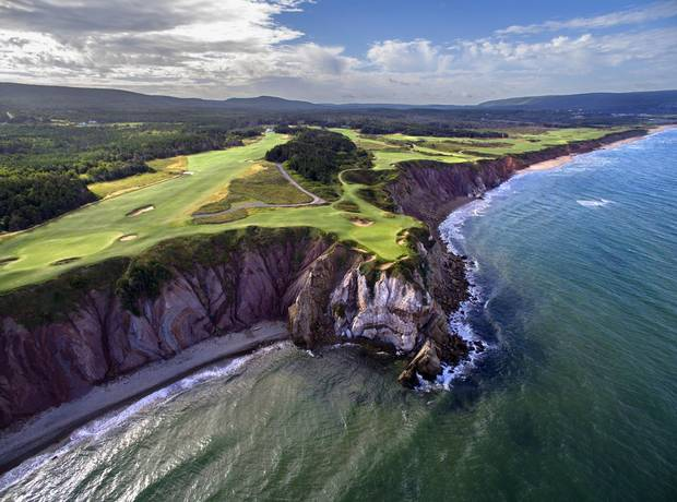 The spectacular 16th Hole at Cabot Cliffs was taken with an Inspire1 drone. Cabot Cliffs was designed by Ben Crenshaw and Bill Coore and showcases some of the most spectacular views of any course worldwide.
