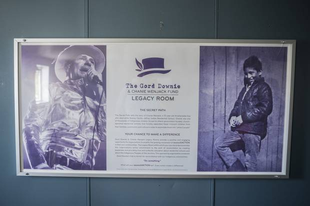 The ship's legacy room, named to honour Tragically Hip frontman Gord Downie, plays host to cultural events about reconciliation with Indigenous peoples.