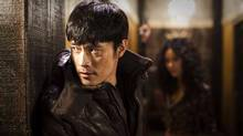 "Lee Byung-hun and Kim In-seo in a scene from ""I Saw the Devil"""