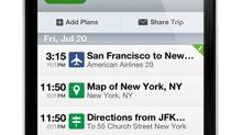 TripIt and Concur Traveler Services app for business travellers. (Geoff Teehan/Teehan+Lax inc)