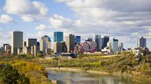The skyline of Edmonton, Alberta