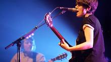 Tegan, left, and Sara play the Orpheum in Vancouver in 2010. This weekend they will play the Vogue theatre. (LAURA LEYSHON for The Globe and Mail)