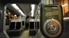 "A ""Presto"" unit very similar to this one will be used for fare payment by transit users. (Fred Lum/The Globe and Mail)"