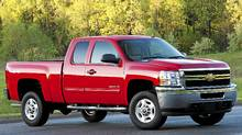 2011 Chevrolet Silverado 2500 HD: You could haul a Smart car in the Silverado's bed with the tailgate down. (GM/General Motors)