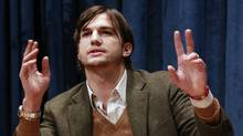 Actor Ashton Kutcher speaks during a news conference at the United Nations Headquarters in New York, Nov. 4, 2010. (Reuters)