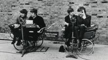 The Beatles' zany wit – on full view in their comic caper A Hard Day's Night – is easy for kids to connect to (despite those Liverpudlian accents). (Miramax Films)