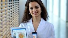Burnaby's Dr. Maryam Sadeghi has developed the MoleScope to help diagnose or prevent skin cancer. (SFU)