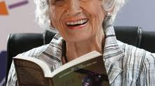 Alice Munro, shown in June 25, 2009, has won the 2013 Nobel Prize for literature. (PETER MORRISON/ASSOCIATED PRESS)