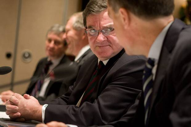 Federal Finance Minister Jim Flaherty, is shown before a provincial, territorial and federal finance ministers meeting in Victoria on Dec. 19, 2011.