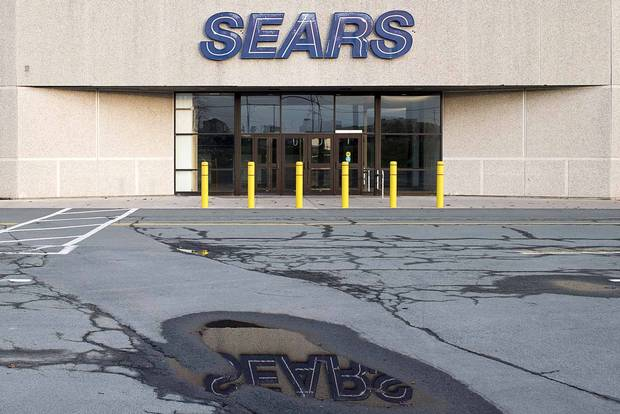 A closed Sears location is seen in Dartmouth, N.S., on Oct. 11, 2017.
