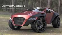 Image of the Apendix concept car (Clark McCune)