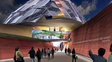 Renderings of the Canadian Museum for Human Rights as designed by Antoine Predock.
