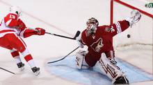 Goaltender Ilya Bryzgalov of the Phoenix Coyotes in action against the Detroit Red Wings. (Christian Petersen/Christian Petersen/2010 Getty Images)