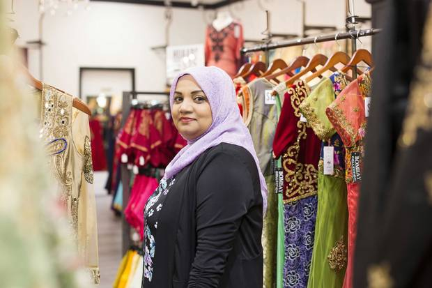 Arifa Bibi Azad, 53. Surrey, BC. Owner of a bridal and evening-wear boutique. Fiji-Canadian.