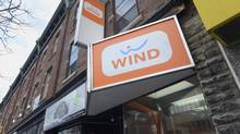 The Wind Mobile store located at 499 Bloor St. West is photographed Feb. 12 2014. (Fred Lum/Fred Lum/The Globe and Mail)