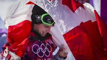 Mark McMorris won Canada's first medal of the Sochi Games with his bronze in slopestyle on Saturday. (John Lehmann/The Globe and Mail)
