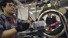 File photo of a manufacturing operation in Toronto. (Fred Lum/The Globe and Mail)